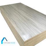 Los muebles de melamina de grado y el Gabinete enfrentan el papel de núcleo de madera contrachapada de álamo