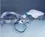 Máscara de oxígeno médica aprobada del CE Ht-0453 con el bolso del depósito