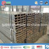 ASTM A500 Tubo de aço quadrado galvanizado quente de carbono soldado
