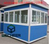 Casa de prefabricados como garita de la estructura de acero de la luz