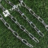 DIN5686 Zinc plateado nudo cadena de cadena para perro