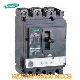 Interruttore NS Nsx MCCB di caso modellato Palo di DC/AC 80A-1600A 3 Palo 4