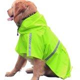 Personalizzare il cappotto di pioggia riflettente leggero impermeabile di svago del cane con il cappuccio