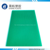 Hoja verde popular de la depresión del policarbonato de la Gemelo-Pared con la capa ULTRAVIOLETA