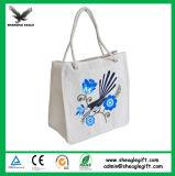 La aduana promocional recicló la bolsa de asas del algodón del paño del calicó