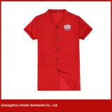 Combinaison courte faite sur commande de travail de chemise pour l'été (W271)