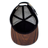 Casquillo de madera llano en blanco de encargo del sombrero del Snapback de las lanas del borde