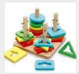 Forma geométrica Juguetes de madera bricolaje juguete intelectual