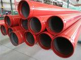 Tubulação de aço pintada Sch40 de luta contra o incêndio do sulco