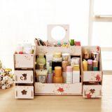 Nuevo estilo de escritorio de gran tamaño de la caja de almacenamiento, bricolaje Caja de almacenamiento de cosméticos