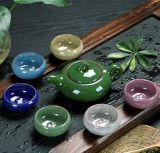 Jogo de chá cerâmico cerâmico do presente do potenciômetro do chá do jogo de chá