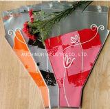 Sacs de empaquetage de chemise en plastique claire de fleurs fraîches de HDPE avec l'illustration estampée