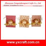 Sac de jute de sac de cadeau d'ange de Noël de la décoration de Noël (ZY11S270-4-5)