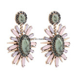 De nieuwe Juwelen van de Oorringen van de Klinknagel van het Kristal van de Gem van het Patroon van de Manier Retro Vrouwelijke