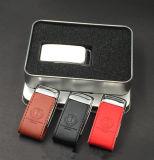 USB 섬광 드라이브 OEM 로고 가죽 PU USB Pendrives 플래시 카드 기억 장치 지팡이 USB 저속한 엄지 메모리 카드 USB 저속한 펜 드라이브
