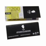 Cono impreso dinero euro del papel de balanceo que fuma