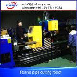 Machine de découpage de pipe de plasma de commande numérique par ordinateur de 5 axes