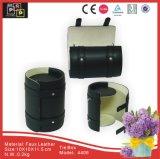 Caixa de retenção de couro PU preto (4406)