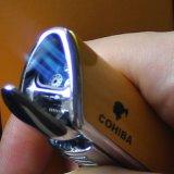 Лихтер сигареты факела желтого металла 3 Cohiba с пуншем (ES-EB-136)