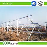 Montaggio di comitato del sistema solare - fascio galvanizzato centrale della parentesi di morsetto dell'estremità del morsetto dell'amo del tetto di mattonelle del tetto del montaggio di PV della parentesi