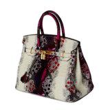 Borsa del sacchetto delle donne del cuoio di grano del pitone di buona qualità di prezzi di fabbrica