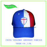Casquillo azul promocional simple convencional del deporte del bordado