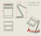 32 인치 접촉 스크린 간이 건축물을 서 있는 LCD 디스플레이 지면 광고