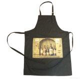 Il cotone promozionale su ordine Brown dei prodotti dell'OEM ha personalizzato il marchio stampato cucinando il grembiule della busbana francese