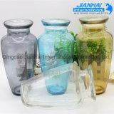 Preiswerter freier verzierter farbiger Glasgroßhandelsvase