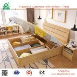 현대 중국 Foshan 말레이지아 MDF 나무로 되는 침실 가구 고정되는 목제 합판 상자 침대