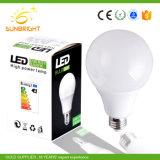 플라스틱 주거를 가진 도매 온난한 백색 9W 15W E27 A60 알루미늄 LED 전구