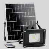 Étanche extérieur de la sécurité de l'éclairage de jardin 5W RF Projecteur solaire du capteur de mouvement