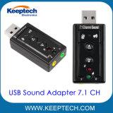 USB 2.0 Adaptador de sonido 7.1 canales virtuales Simulación 3D