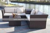 Kdの屋外の柳細工の部門別のソファーの一定の安く新しい藤Sofa/PEの庭のソファー