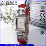 ODM-heißer Verkaufs-Stahlquarz-Frauen-Form-Uhr (Wy-020D)