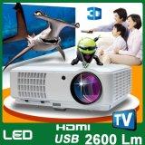 イ804 LEDスマートなプロジェクターアンドロイド2500内腔のBeamer携帯用HD LED WiFiのホームシアターの映画館プロジェクター