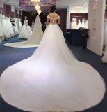 с платья повелительниц мантий венчания длиннего поезда плеча Bridal