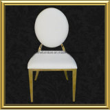 現代低価格はステンレス鋼の金属によって装飾されたレストランの椅子のビロードにパッドを入れた