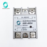 단일 위상을 출력되는 SSR-80da 80A 3V-32VDC 입력 24V-480VAC 1개 단계 SSR 반도체 계전기
