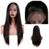 Парик волос прямых волос Dlme естественный черный синтетический