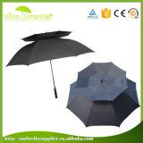 Выдвиженческий автоматический сильный зонтик гольфа двойного слоя напольный Windproof