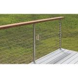 鋼鉄手すりが付いているステンレス鋼316ケーブルの柵を柵で囲む現代的なバルコニー