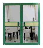 Puerta usada anuncio publicitario de cristal de aluminio del marco del doble del almacén de Lowes del marco