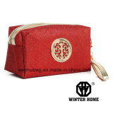 方法布のジッパー開いた装飾的な袋のハンド・バッグ