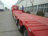 Cimc Huajun de Hete Semi Aanhangwagen Lowbed van de Verkoop 3axle met de Helling van de Lente