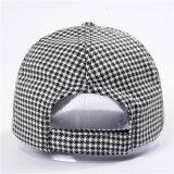Sombrero caliente de las mujeres del invierno de la gorra de béisbol de Houndstooth de la vendimia de la venta