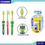 O miúdo/criança/Toothbrush das crianças com as cerdas delgadas & macias, presente incluíram o bloco 129