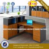Partition en bois en verre en aluminium moderne de poste de travail/bureau de compartiment (HX-8N0100)