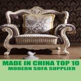 Sofà classico imperiale della mobilia domestica di lusso con il blocco per grafici intagliato
