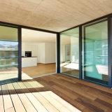 Salto térmico de materiales de construcción de cristal templado doble puerta corrediza de aluminio
